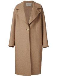 однобортное удлиненное пальто Grey Jason Wu
