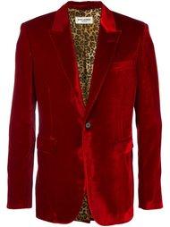 бархатный пиджак-смокнг Saint Laurent