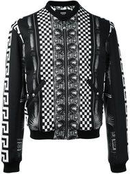 куртка-бомбер с узором  Versus