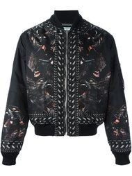 куртка-бомбер с принтом обезьян  Givenchy