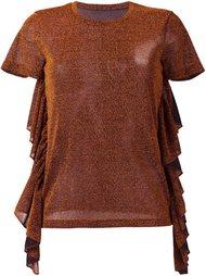 футболка с оборками Mm6 Maison Margiela