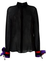 блузка с манжетами в полоску Capucci