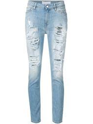 джинсы с потертой отделкой Iro