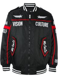 куртка-бомбер с вышивкой KTZ