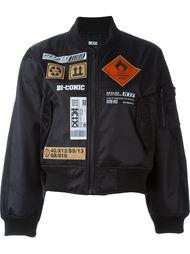 куртка-бомбер в стиле пэчворк  KTZ