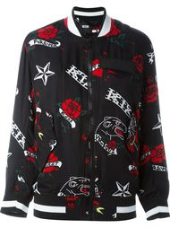 куртка-бомбер с принтом татуировок KTZ