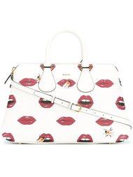 сумка-тоут с принтом губ Bally