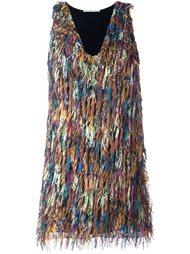платье мини с бахромой Marco De Vincenzo