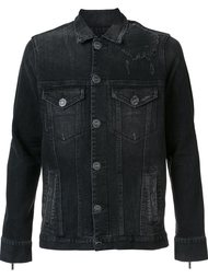куртка 'Dirty Denim Trucker' En Noir