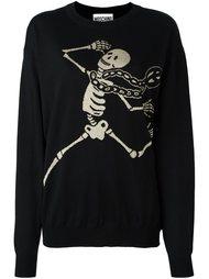 свитер с принтом скелета Moschino