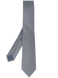 галстук с принтом слонов  Bulgari
