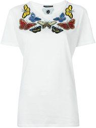 футболка с вышивкой бабочек Alexander McQueen