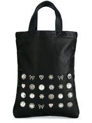 сумка-тоут декорированная кристаллами  Comme Des Garçons Girl