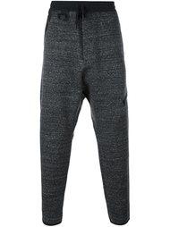 зауженные меланжевые спортивные брюки  Y-3