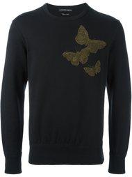 толстовка с вышивкой бабочек Alexander McQueen