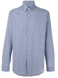рубашка с мелким узором пейсли Etro