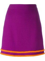 юбка А-образного силуэта с контрастной окантовкой  Boutique Moschino