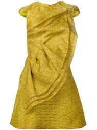 платье с оборкой Christian Siriano