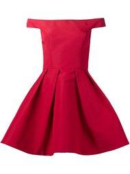 платье с расклешенной юбкой и открытыми плечами Christian Siriano