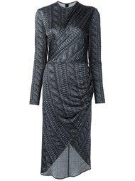 платье с имитацией вязки косами Christian Siriano