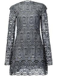 платье с вышитым кружевом Christian Siriano