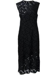 платье с геометрическим рисунком Christian Siriano