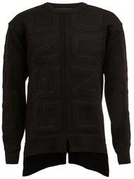 асимметричной вязаный свитер  Juun.J