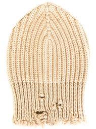 шапка-бини с рваными краями Unravel