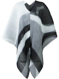 ribbed printed poncho Pleats Please By Issey Miyake