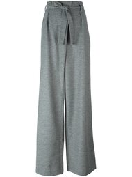 брюки палаццо с поясом MSGM