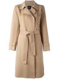 пальто с поясом Theory