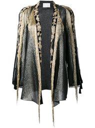 блейзер с вышивкой и бахромой Alberta Ferretti