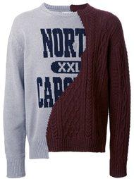 свитер с панельным дизайном  Doublet