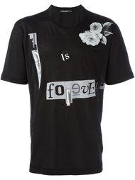 футболка с нашивкой  Dolce & Gabbana
