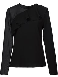 блузка с полупрозрачным рукавом Cushnie Et Ochs