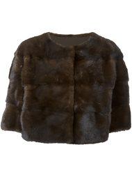укороченная меховая куртка Yves Salomon
