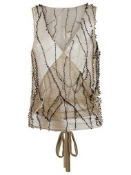wrap mesh waistcoat Isabela Capeto