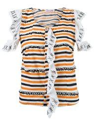 stripe ruffled blouse Isabela Capeto