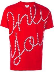 """футболка с принтом """"only you"""" Kenzo"""
