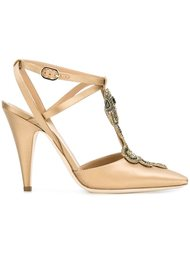 туфли с украшением в виде змеи Alberta Ferretti