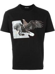 футболка с принтом птицы Neil Barrett