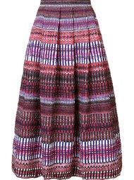 пышная юбка в полоску Saloni