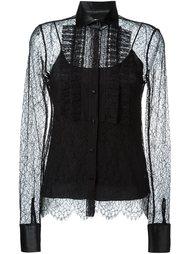 полупрозрачная кружевная блузка  Ermanno Scervino