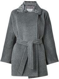 пальто с расклешенными рукавами и поясом Max Mara