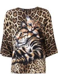 блузка с котятами Dolce & Gabbana