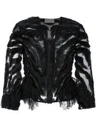 прозрачный укороченный пиджак Alberta Ferretti