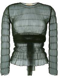 кружевная прозрачная блузка Romeo Gigli Vintage