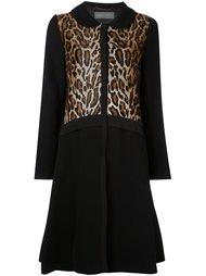 пальто с леопардовым принтом Alberta Ferretti