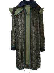 многослойное пальто-пуховик Sacai