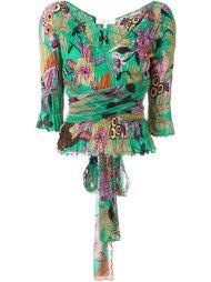 блузка с цветочным узором Romeo Gigli Vintage